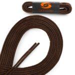 OrthoStep Waxed Very Thin Dress Round Classic Brown 28 inch Shoelaces 2 Pair Pack