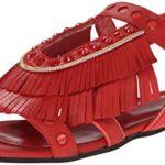 Just Cavalli Women's Fringe Flat Dress Sandal