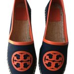 Tory Burch Angus Flat Espadrille – Canvas Bright Navy/Poppy Red 6.5