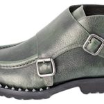 DSQUARED2 Missionary Monk Strap Ankle Boots, Verde, Size 46 EU/ 13 US, Made in ITALY $815