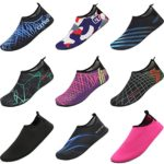 CIOR Men Women and Kids Quick-Dry Water Shoes darkweight Aqua Socks For Beach Pool Surf Yoga Exercise,CT18,black,44.45