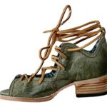 Freebird Shoes Womens Peace Lace Up Open Toe Tie Green FB-PEACE