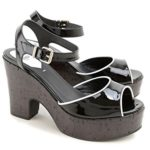 Fendi Women's Patent Leather High Heel Sandals Shoes