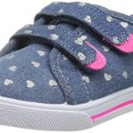 carter's Girls' Nikki2 Casual Sneaker, Blue, 5 M US Toddler