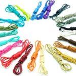 Shoeslulu 20-59″ Premium Round Waxed Canvas Shoelaces Bootlaces