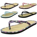 Alpine Swiss Womens Bamboo Flip Flop Thong Summer Sandals