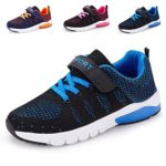 Kids Walking Shoes Lightweight Breathable Running Shoes Fashion Velcro Sneakers for Boys and Girls