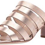 LOEFFLER RANDALL Women's Finley Strappy Mule (Metallic Leather) Heeled Sandal