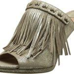 Diane von Furstenberg Women's Langley Storm Glitter Metallic Suede Shoe size 6.5
