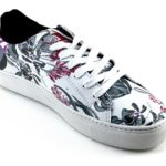 Barcelonetta Women White Floral Shoes Fashion Sneakers