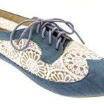 Delias Women's Lace-Up Wingtip Oxford Ballet Flat Shoe