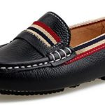 SKOEX Boy's Leather Slip On Loafers Oxford Dress Casual Boat Shoes Moccasins