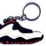 Air Jordan 10/X White/Red/Black Chicago Sneakers Shoes Keychain Keyring AJ 23 Retro