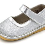 Toddler Shoes | Squeaky Sparkle Mary Jane Toddler Girl Shoes | Black, Pink, Silver, Gold, Red, Brown or White | Premium Quality (Removable Squeakers)