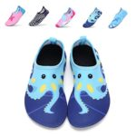 DKRUCAK Girls Boys Water Shoes Lightweight Quick-Dry Barefoot Aqua Socks Shoes For Lawn Pool Dance (5-5.5 M US Toddler= 20-21 EU, Wuzei Blue)