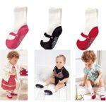 Elesa Miracle Non-skid Baby Girl Toddler Shoe Socks, 3 Pairs, for 6-18 Months, Ballet