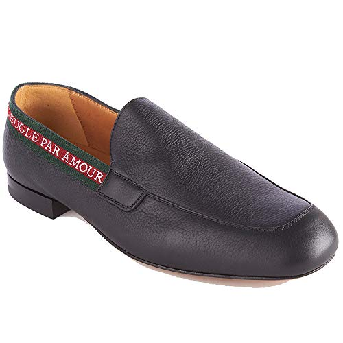 ab46de21271 Black leather L Aveugle Par Amour loafers featuring an almond toe