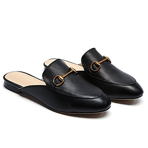 09de2972206 LaRosa Womens Leather Oxford Backless Slipper Slip-ons Loafer Shoes